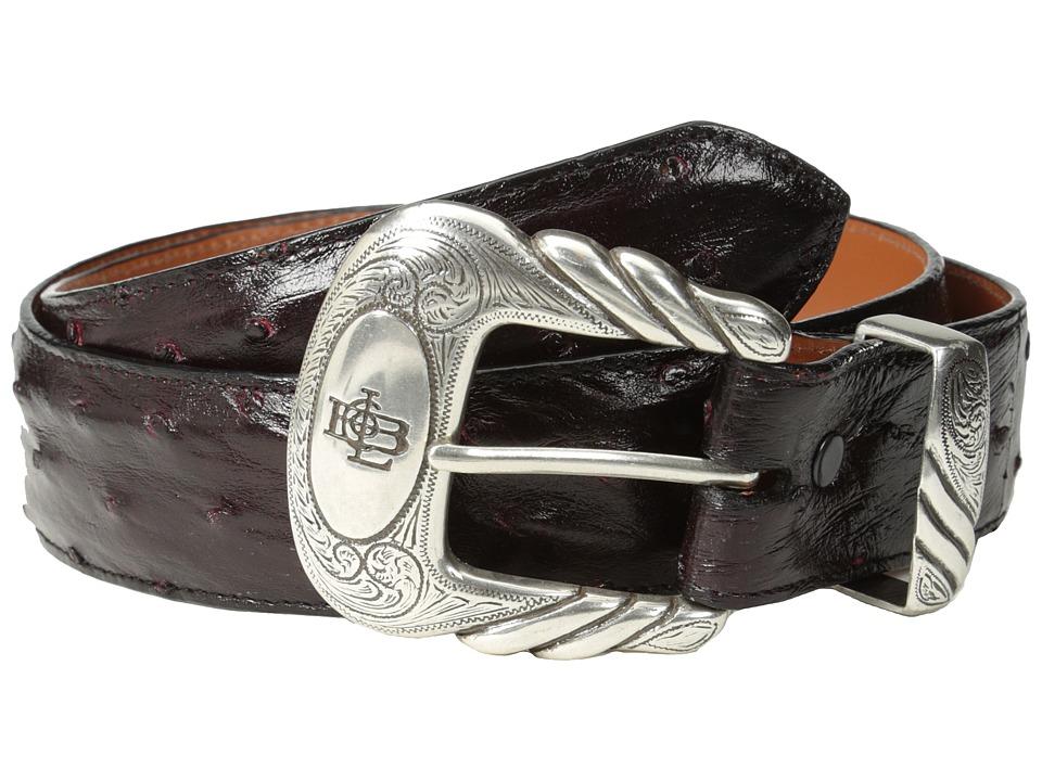 Lucchese W6021 (Black Cherry Full Quill Ostrich) Men's Belts