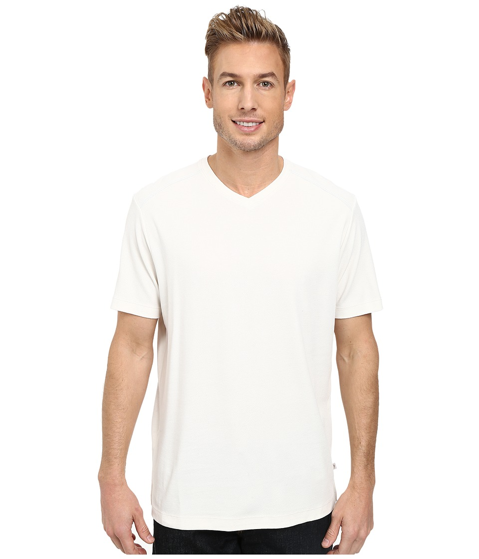 Tommy Bahama - New Pebble Shore V-Neck (White) Men's T Shirt