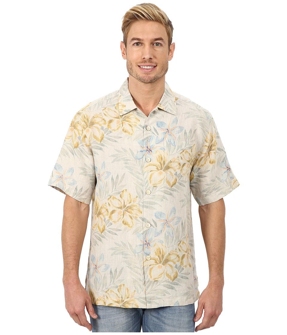 Tommy Bahama - Linen Social SS Coconut Mens Short Sleeve Button Up $110.00 AT vintagedancer.com