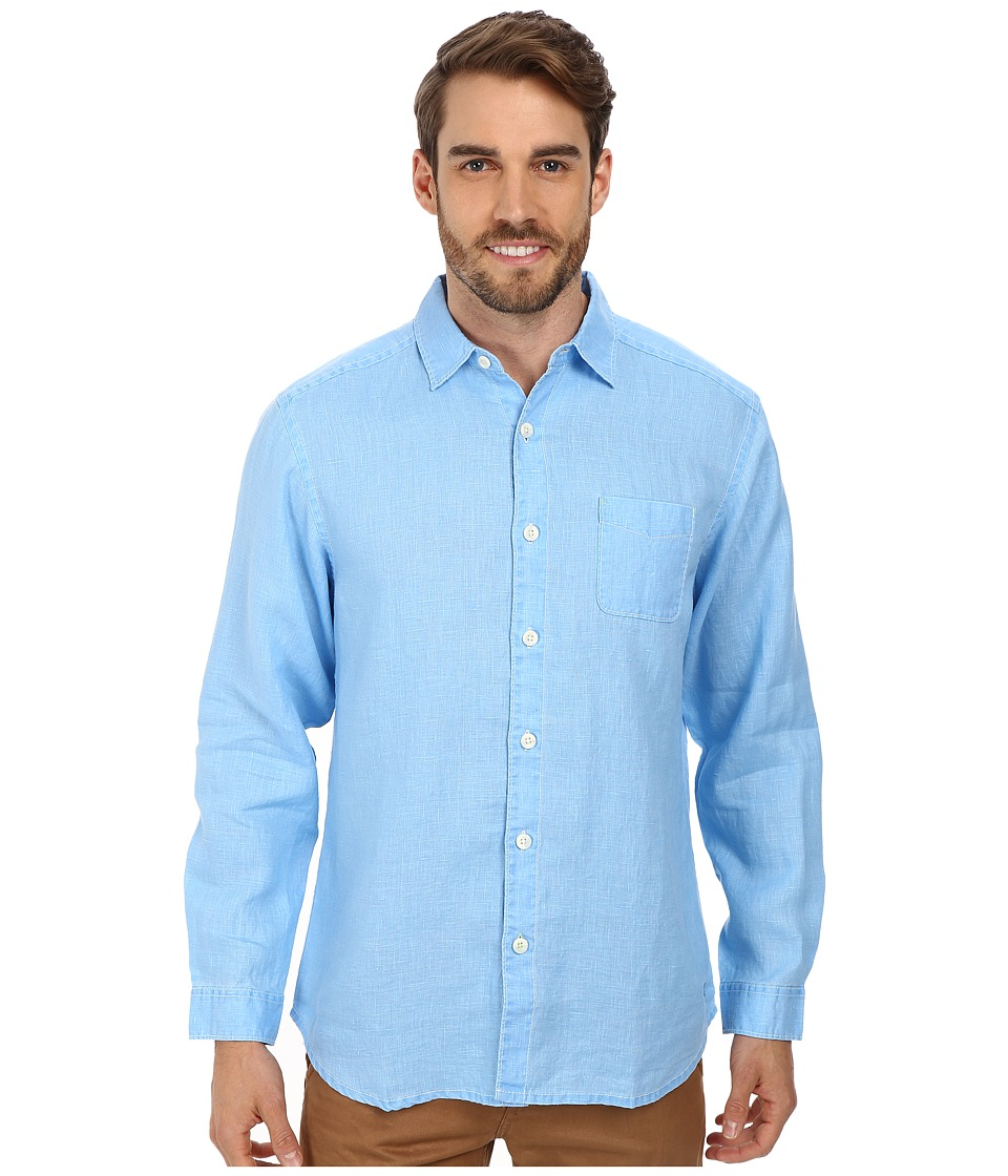 Tommy Bahama Sea Glass Breezer Long Sleeve Shirt (Blue Yo...
