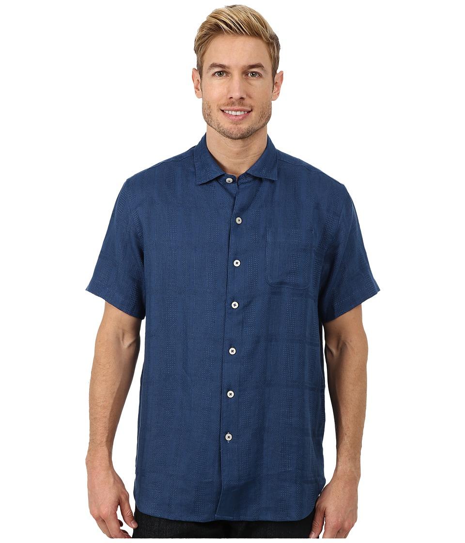 Tommy Bahama - San Marino Camp Shirt Blueberry Mens Short Sleeve Button Up $98.00 AT vintagedancer.com