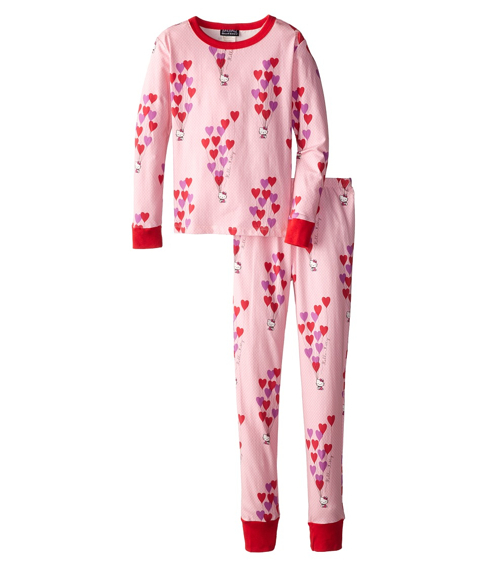 BedHead Kids Hello Kitty Stretch L/S PJ (Big Kids) (Hello Kitty Floating Hearts) Girl's Pajama Sets