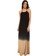 La Blanca - French Dip Hi-Neck Maxi Dress Cover-Up