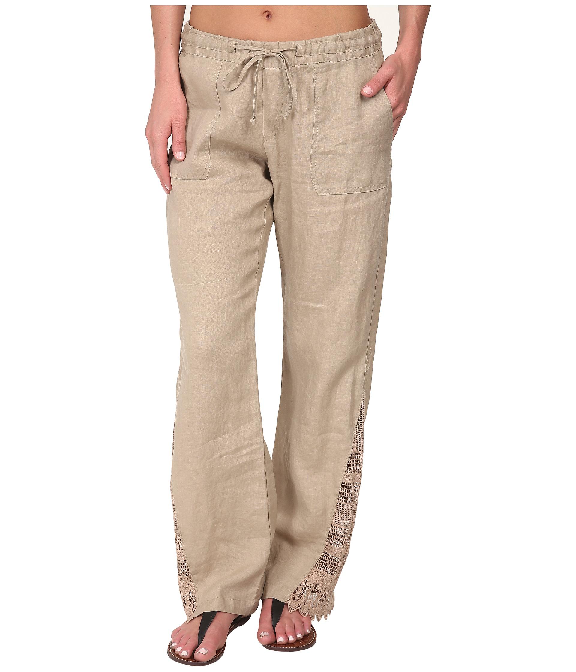 tan linen pants - Pi Pants