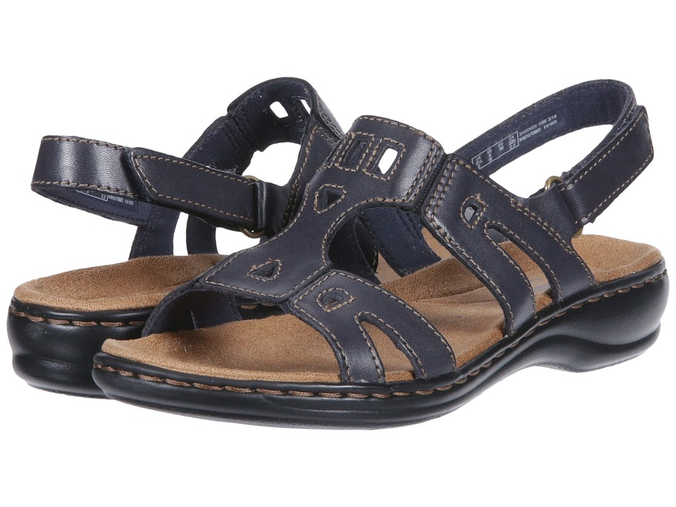 Clarks Leisa Annual (Navy Leather) Sandals