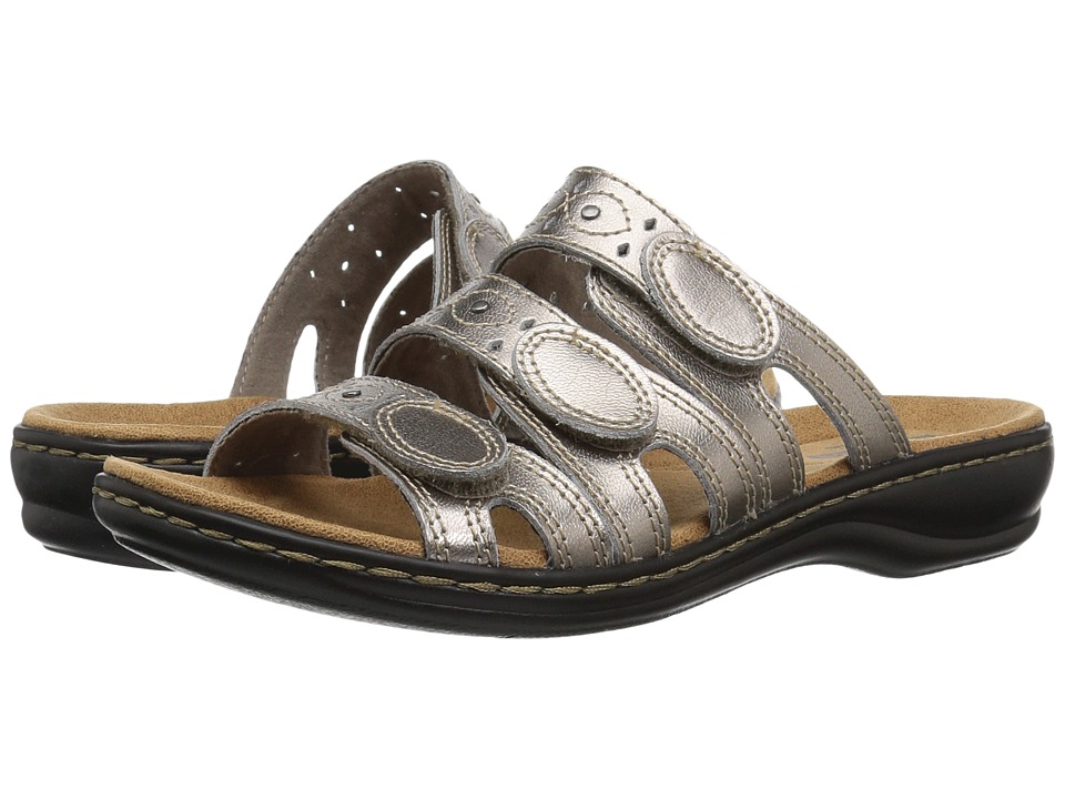 Clarks Leisa Cacti Q (Pewter Leather) Sandals