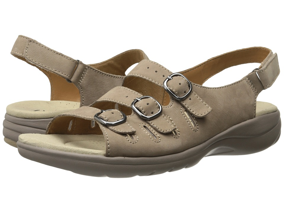 Clarks - Saylie Medway (Taupe Nubuck) Women's Sandals