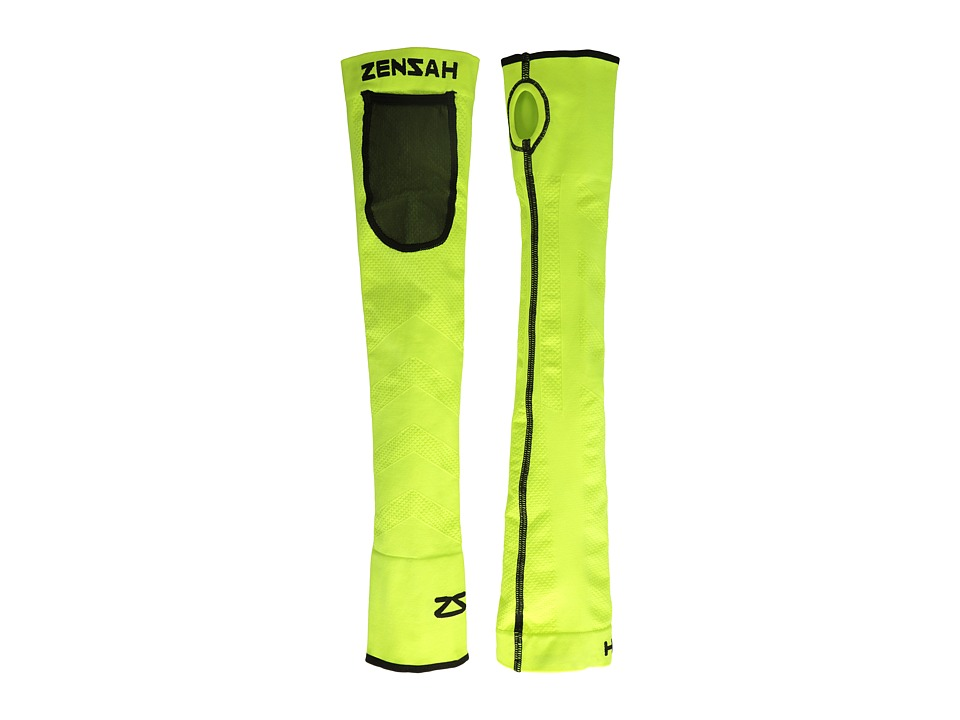Zensah - Limitless Arm Warmers (Neon Yellow) Athletic Sports Equipment