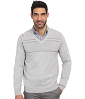 Perry Ellis - Solid Textured V-Neck Sweater
