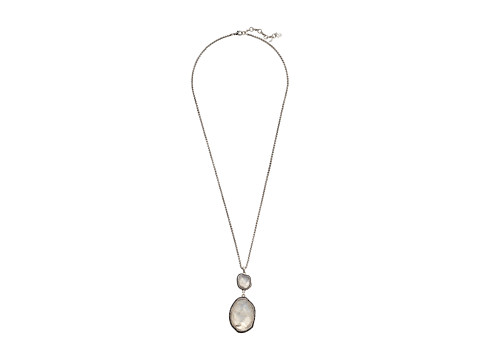 Lucky Brand Organic Stone Pendant Necklace - Silver