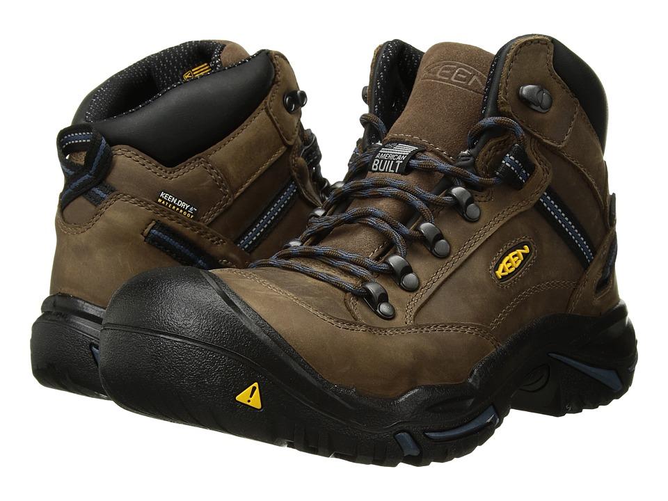 Keen Utility - Braddock Mid AL (Bison/Ensign Blue) Mens Work Boots