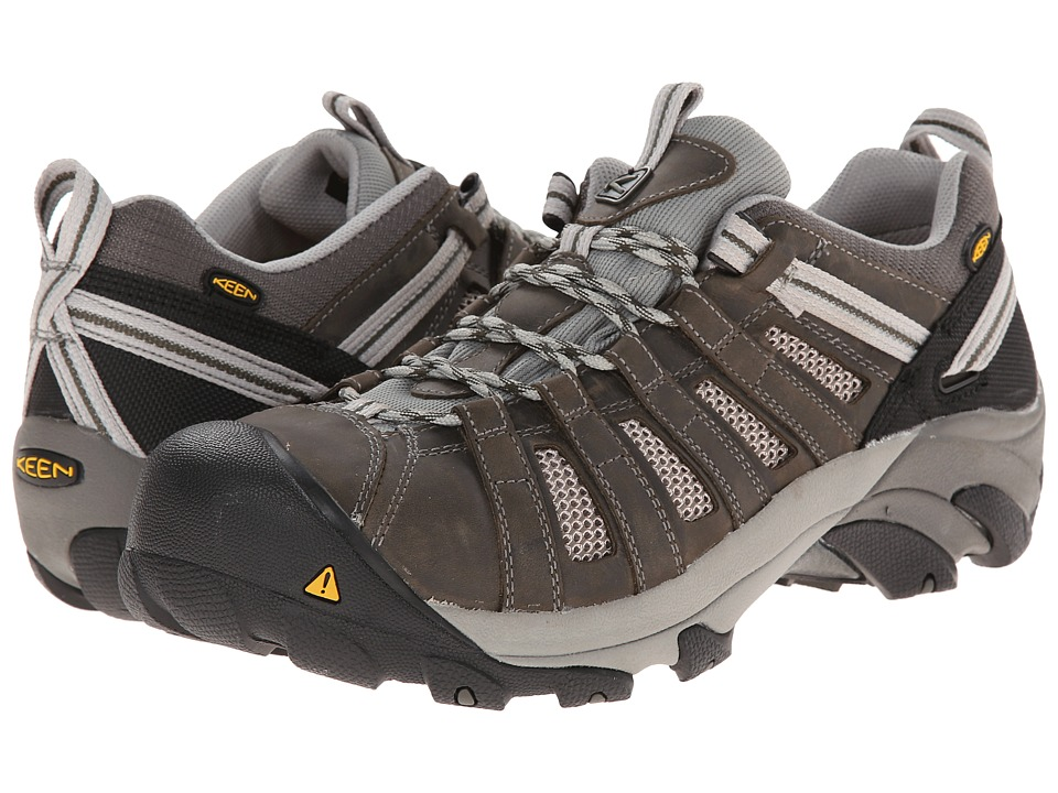 Keen Utility - Flint Low (Gargoyle/Forest Night) Mens Work Lace-up Boots