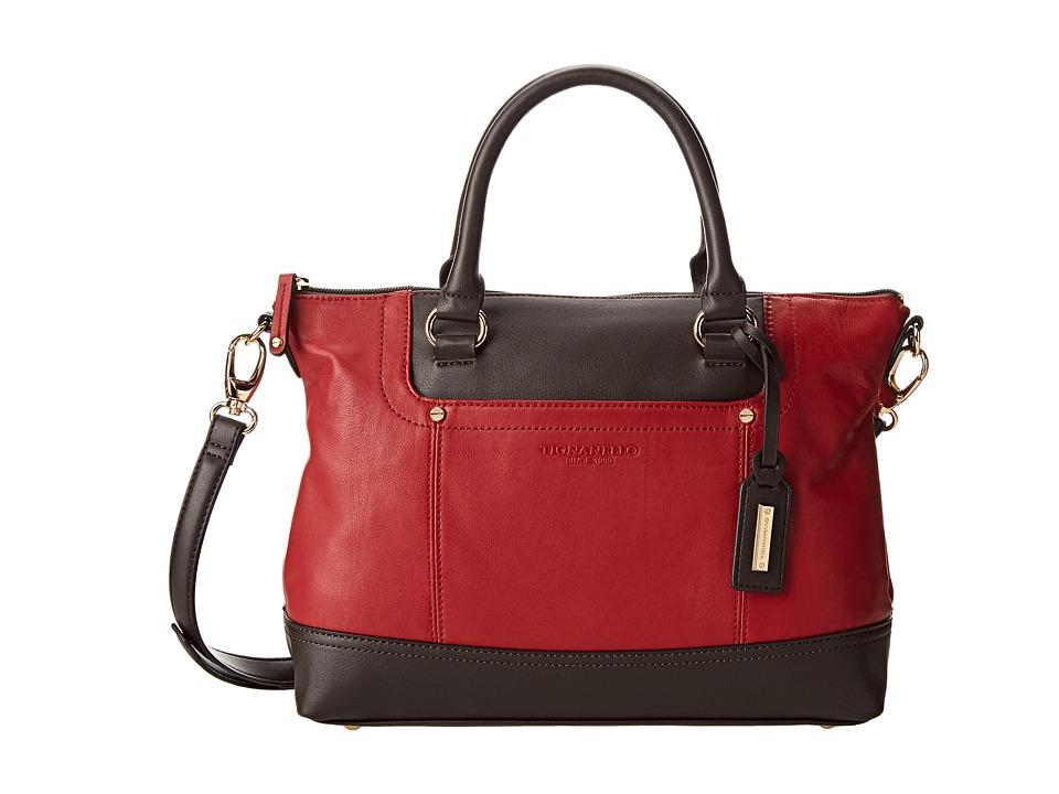 Tignanello Smooth Operator Convertible Satchel (Rouge/Brown) Satchel Handbags