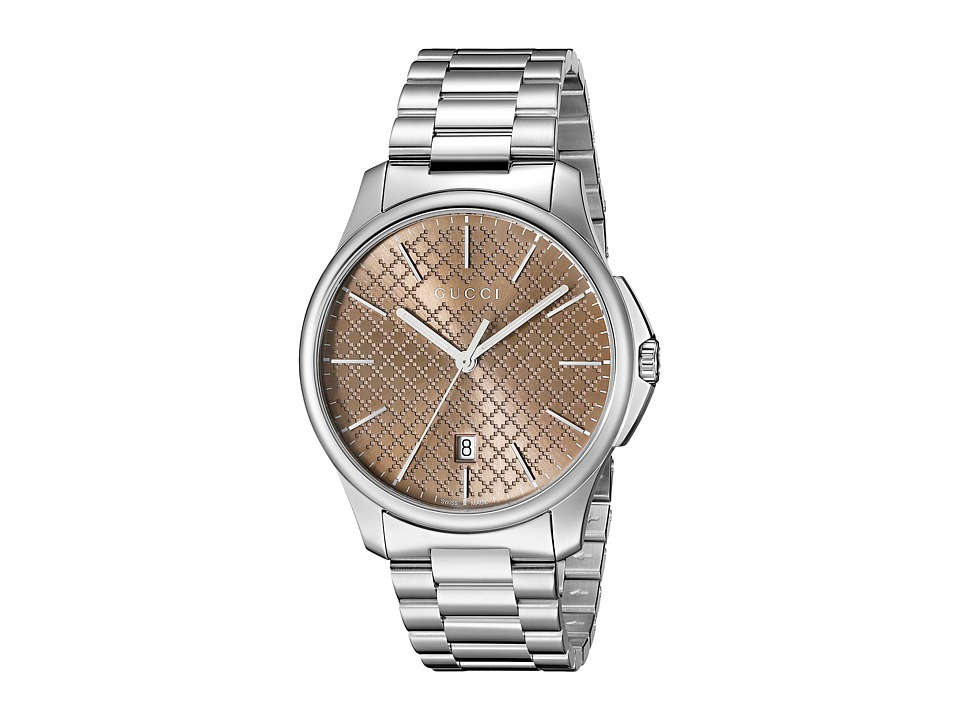 Gucci - G-Timeless Large Brown Dial Steel Bracelet