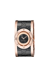 Gucci - Twirl Black Rose PVD & Black Calf GG Leather