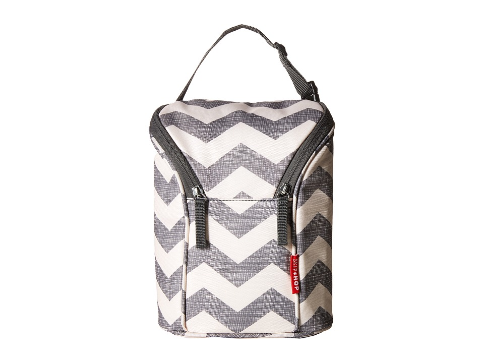 Skip Hop Grab Go Double Bottle Bag Chevron Diaper Bags