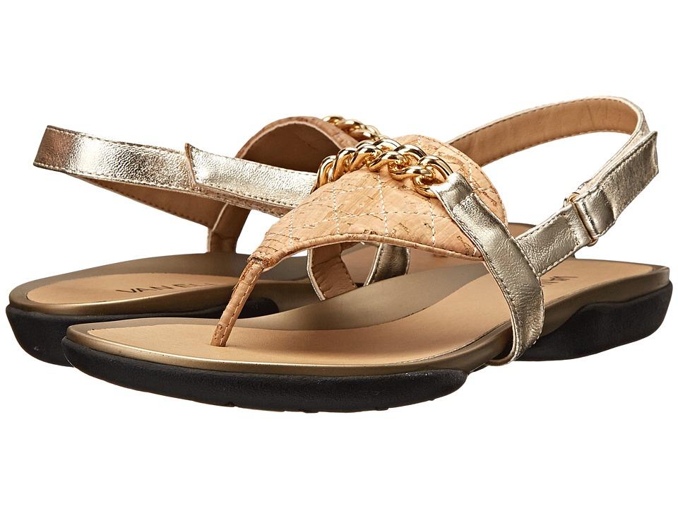 Vaneli - Wenda (Natural Quilted Cork/Platino Met Ecco Nappa) Women's Sandals