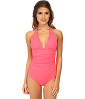 Shoshanna - Ruched Halter One-Piece