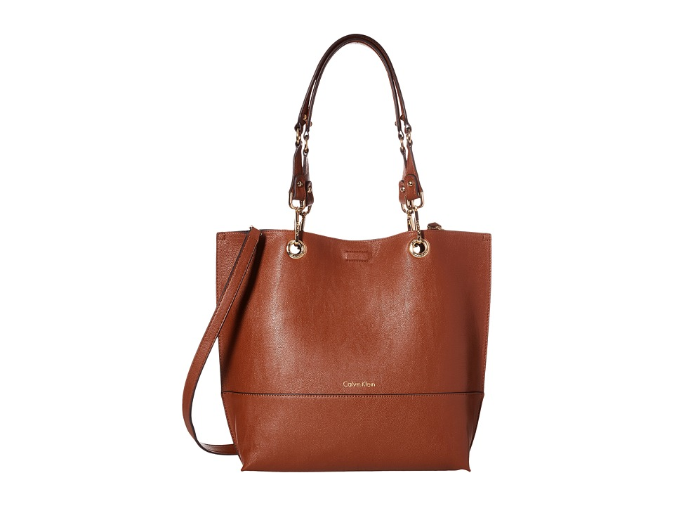 Calvin Klein - Unlined Tote (Luggage/Black) Tote Handbags