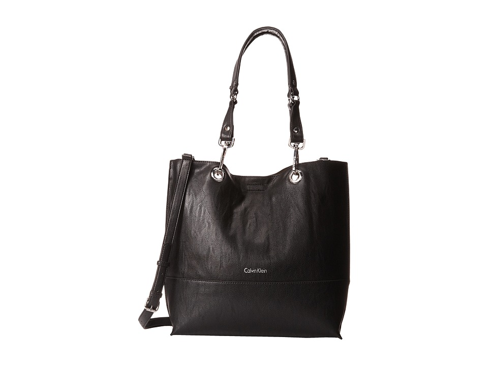 Calvin Klein Unlined Tote (Black/Grey) Tote Handbags