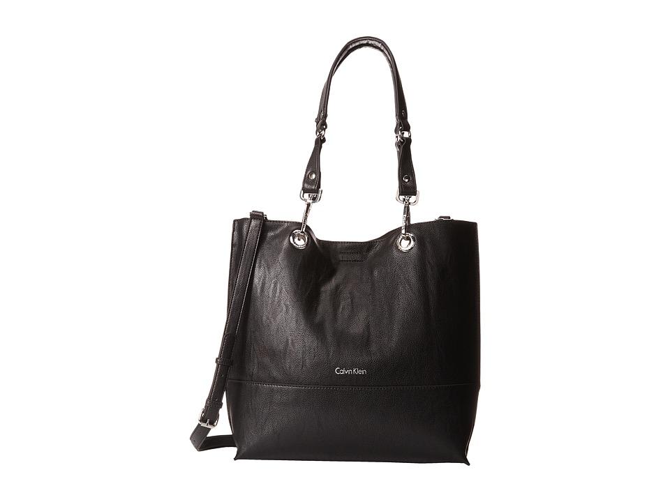 Calvin Klein - Unlined Tote (Black/Grey) Tote Handbags