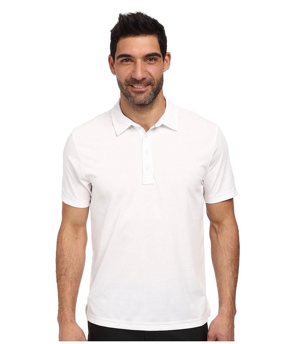 TravisMathew Crenshaw S/S Polo White Mens Short Sleeve Knit