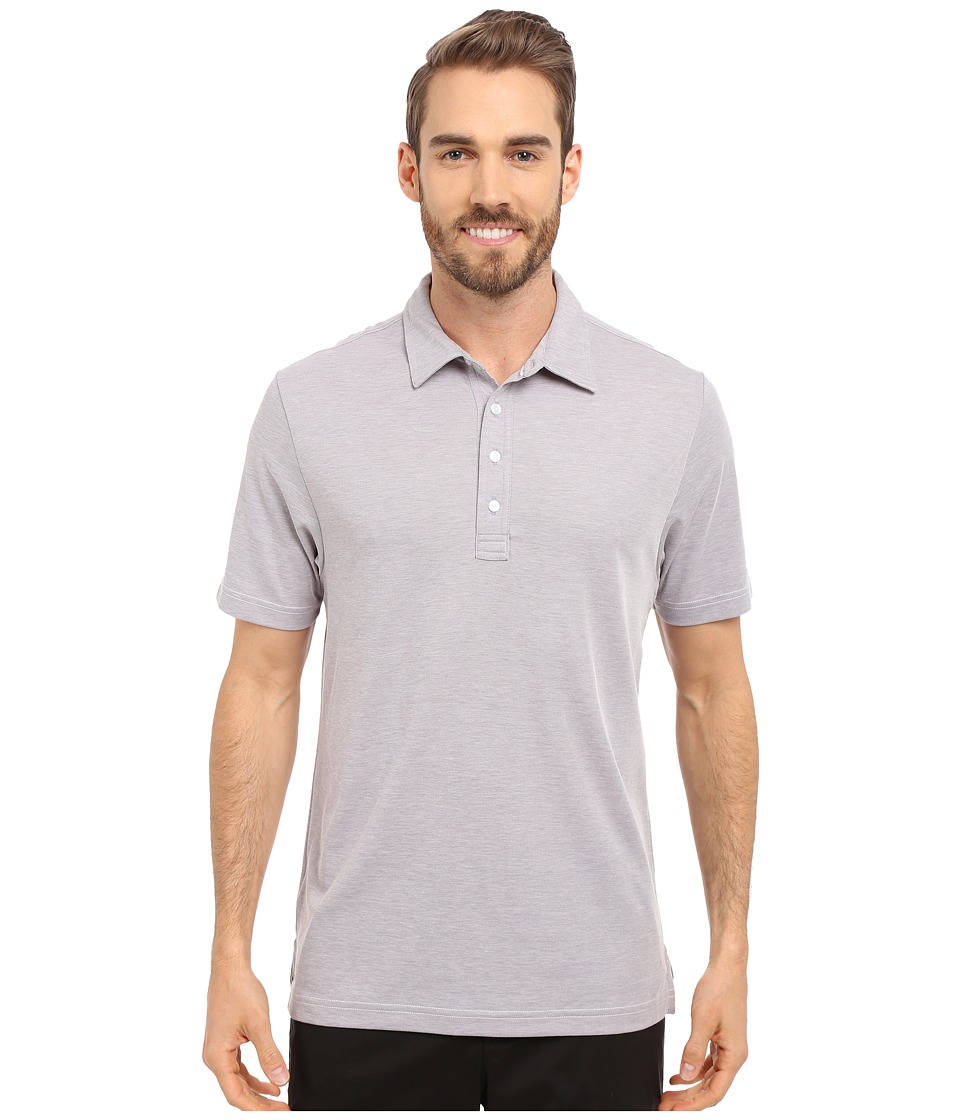 TravisMathew Crenshaw S/S Polo Heather Grey Mens Short Sleeve Knit