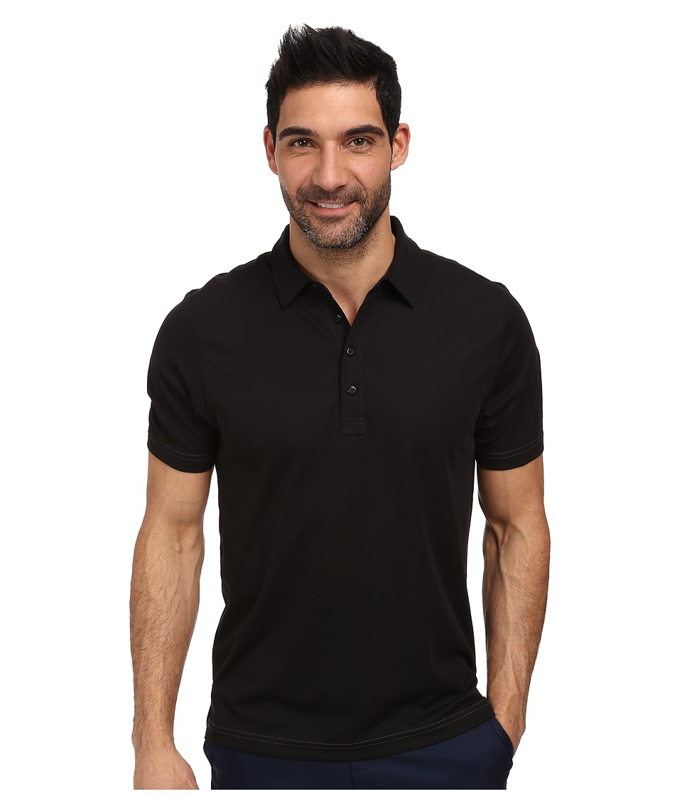 TravisMathew Crenshaw S/S Polo Black Mens Short Sleeve Knit