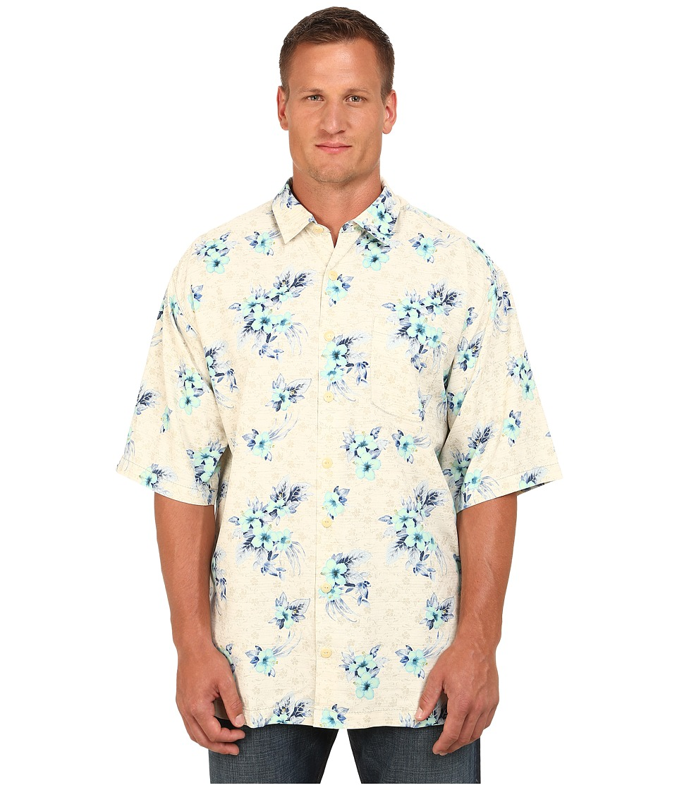 Tommy Bahama Big amp Tall Big Tall Garden Of Hope And Courage Coconut Mens Short Sleeve Button Up