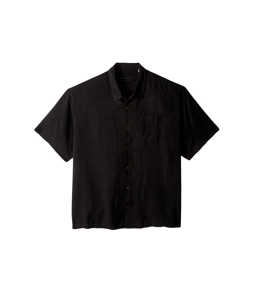 Tommy Bahama Big amp Tall Big Tall Bedarra Garden Black Mens Short Sleeve Button Up