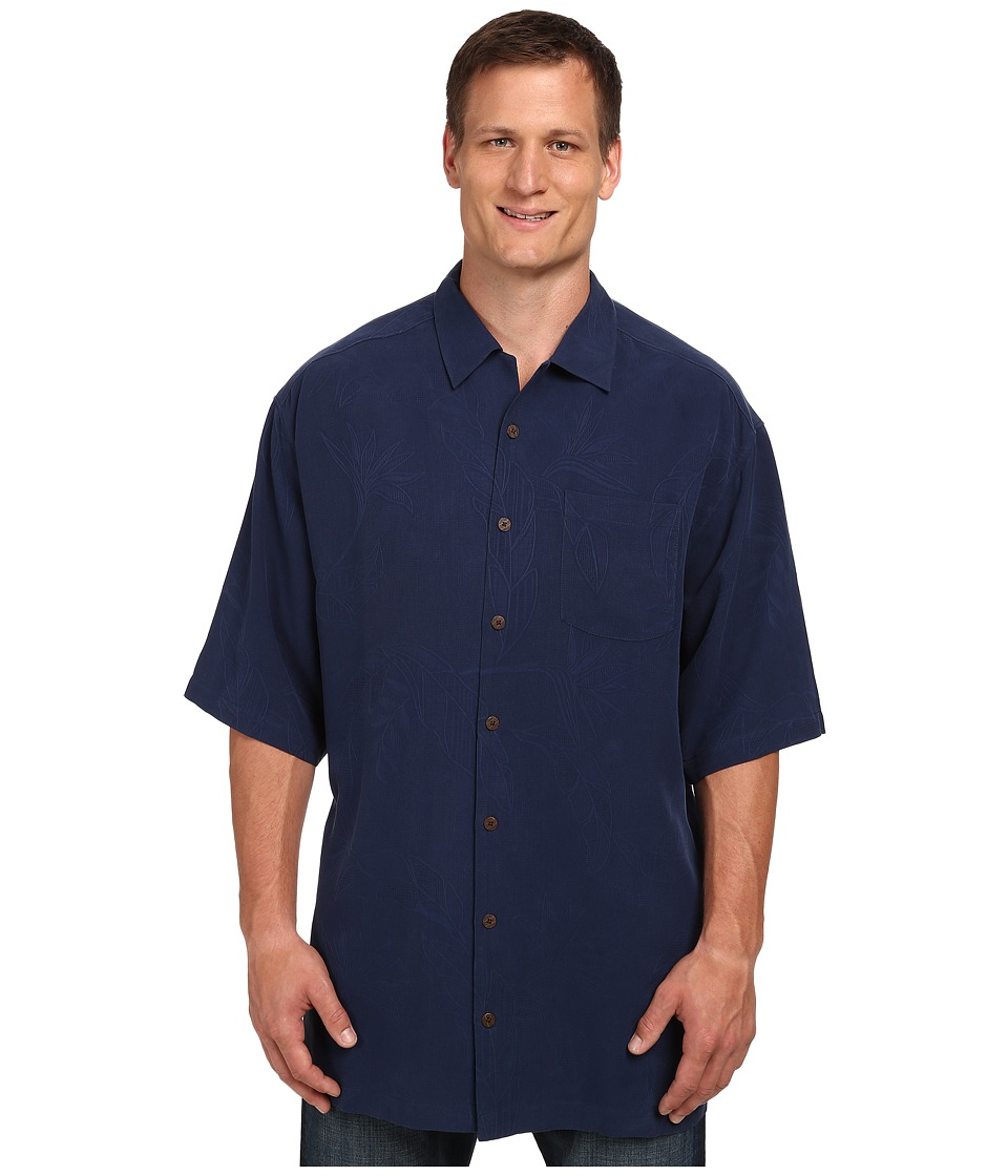 Tommy Bahama Big amp Tall Big Tall Bedarra Garden Navy Mens Short Sleeve Button Up