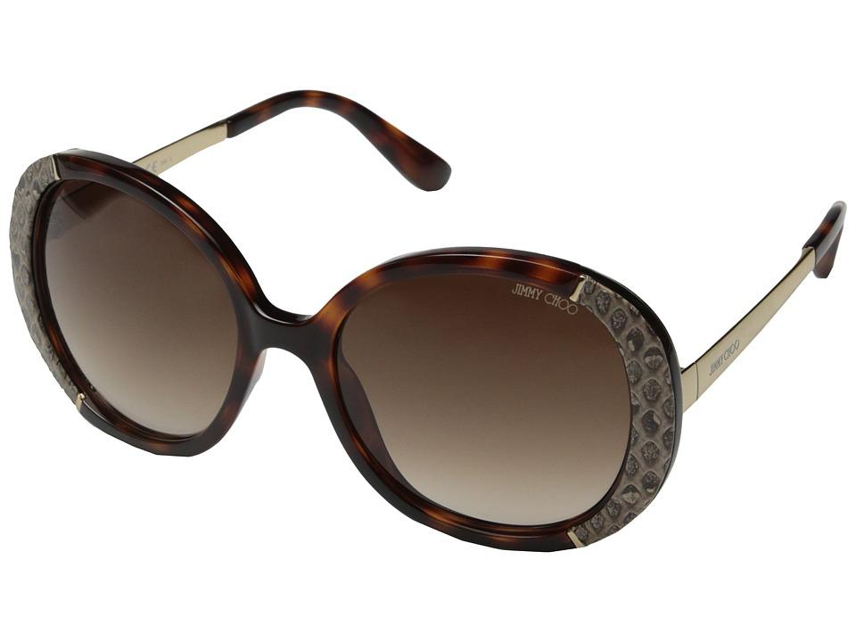 Jimmy Choo Millie/S Dark Havana/Brown Gradient Fashion Sunglasses