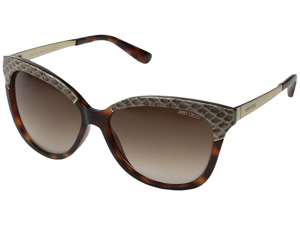 Jimmy Choo Ines/S Dark Havana/Brown Gradient Fashion Sunglasses