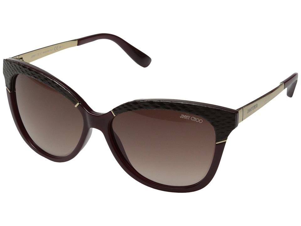 Jimmy Choo Ines/S Burgundy/Brown Gradient Fashion Sunglasses