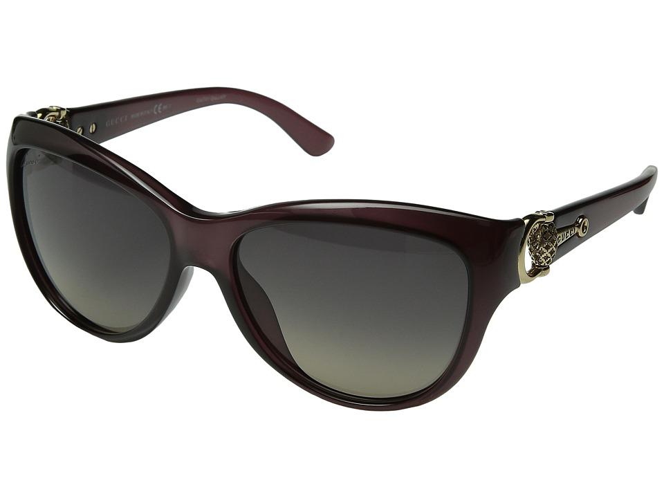 Gucci GG 3711/S Burgundy/Gray Green Gradient Fashion Sunglasses