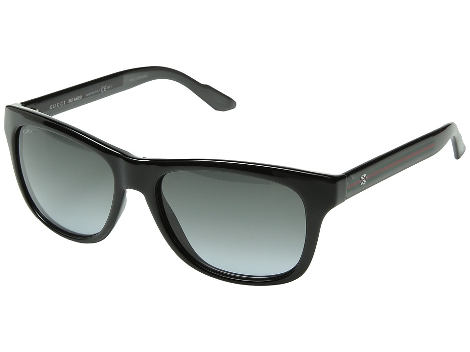 Gucci GG 3709/S Shiny Black Gray/Gray Gradient Fashion Sunglasses