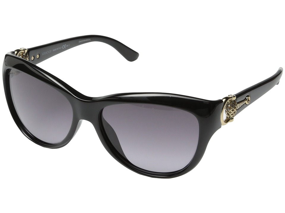 Gucci GG 3711/S Black Shiny Gray Gradient Fashion Sunglasses