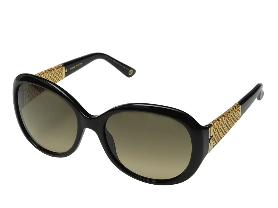Gucci GG 3693/S Black Gold/Brown Gradient Fashion Sunglasses