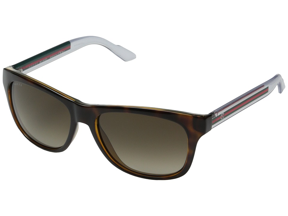 Gucci GG 3709/S Havana Crystal/Brown Gradient Fashion Sunglasses