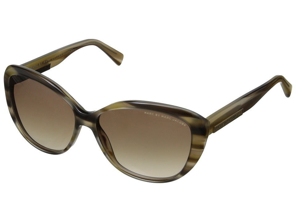 Marc by Marc Jacobs MMJ 443/S Striped Beige/Brown Gradient Fashion Sunglasses