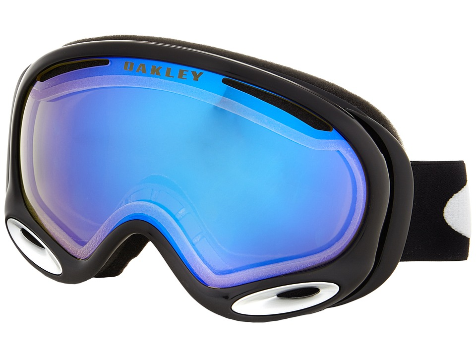 Oakley A Frame 2.0 Jet Black w/ High Intensity Yellow Snow Goggles
