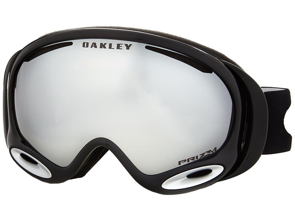 Oakley A Frame 2.0 Jet Black w/ MLS w/ Black Iridium Snow Goggles
