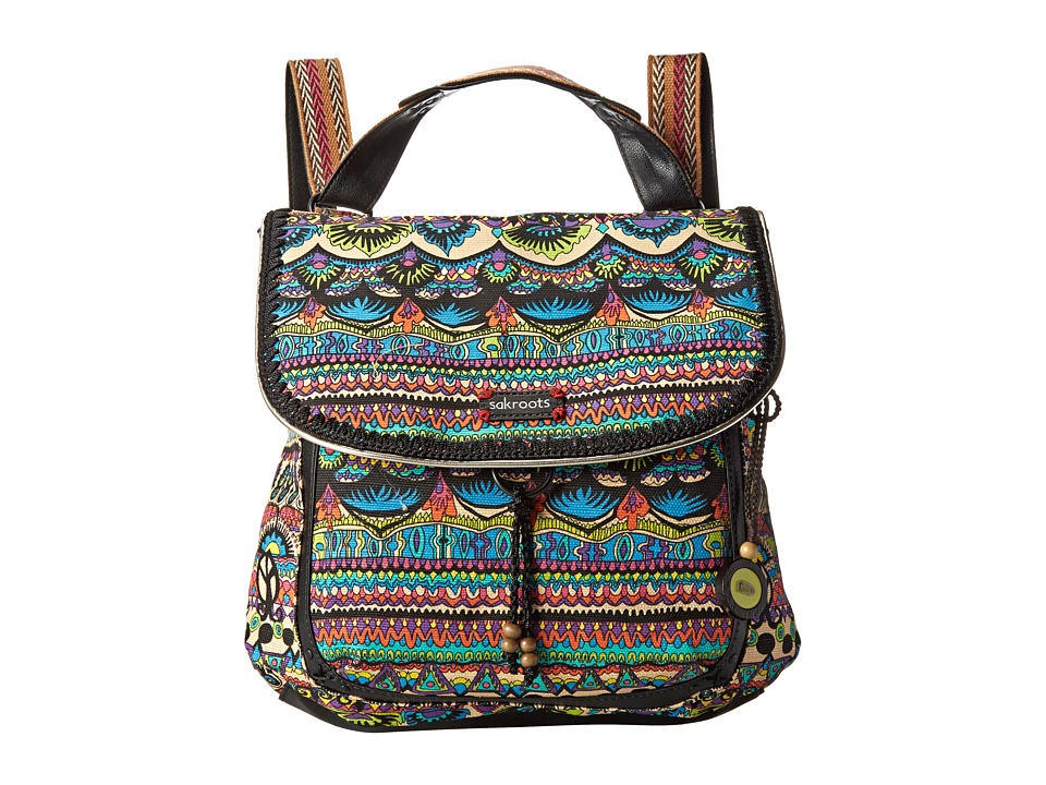 Sakroots - Artist Circle Convertible Backpack (Radiant One World) Backpack Bags