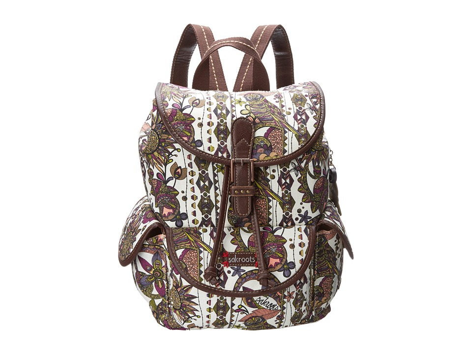 Sakroots - Artist Circle Small Flap Backpack (Ivory Spirit Desert) Backpack Bags