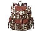 Sakroots Sakroots Artist Circle Flap Backpack (Ivory Spirit Desert)