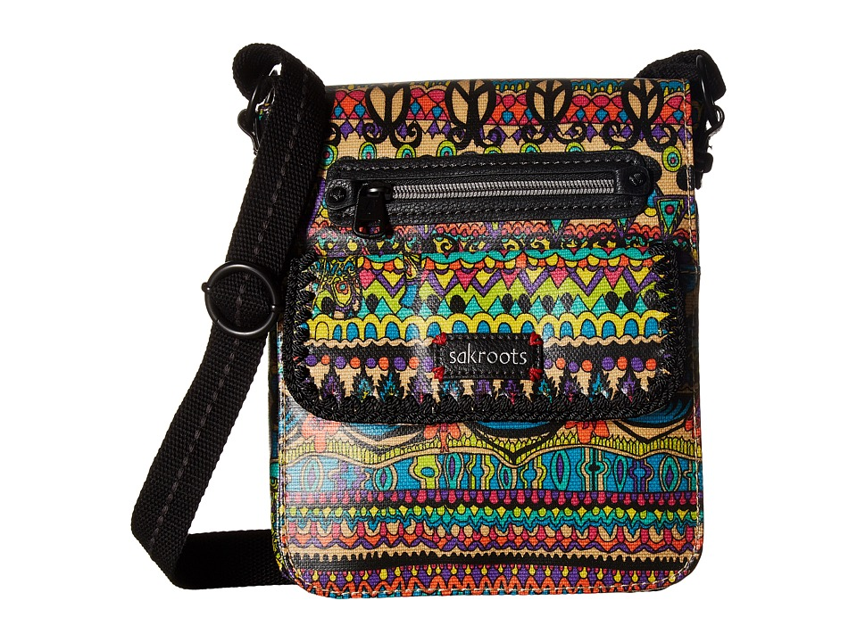 Sakroots - Sakroots Small Flap Messenger (Radiant One World) Cross Body Handbags