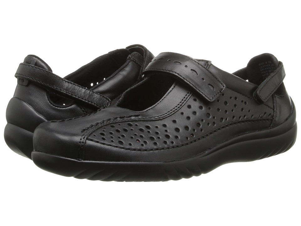 Klogs - Via (Black Smooth) Women's  Shoes
