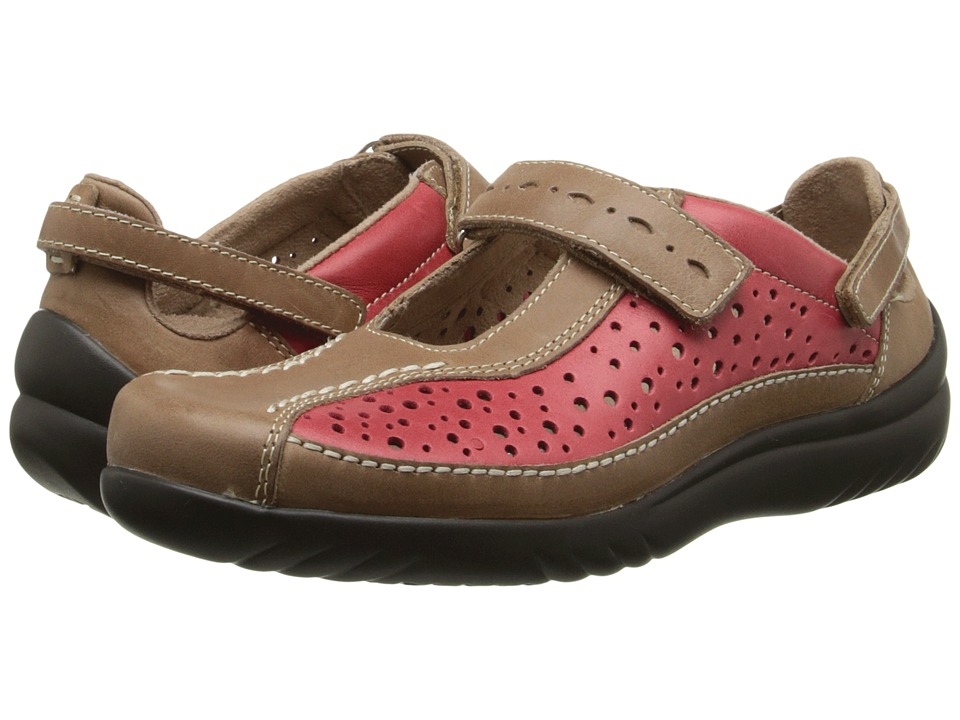 Klogs - Via (Red/Driftwood) Women's  Shoes