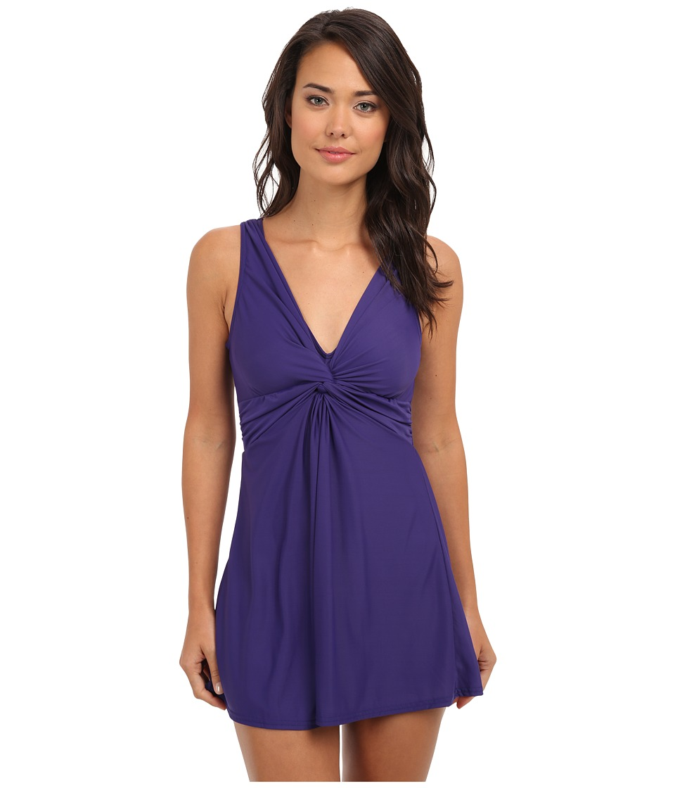 Miraclesuit Up And Coming Marais Swimsuit (Eggplant) Women's Swimsuits One Piece<br />