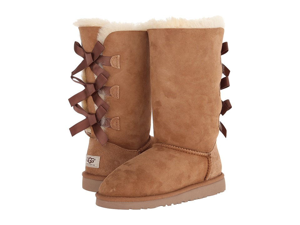 UGG Kids Bailey Bow Tall Little Kid/Big Kid Chestnut Girls Shoes